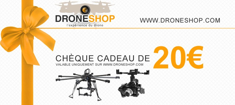 ch que cadeau 20 euros droneshop gift20ds droneshop. Black Bedroom Furniture Sets. Home Design Ideas