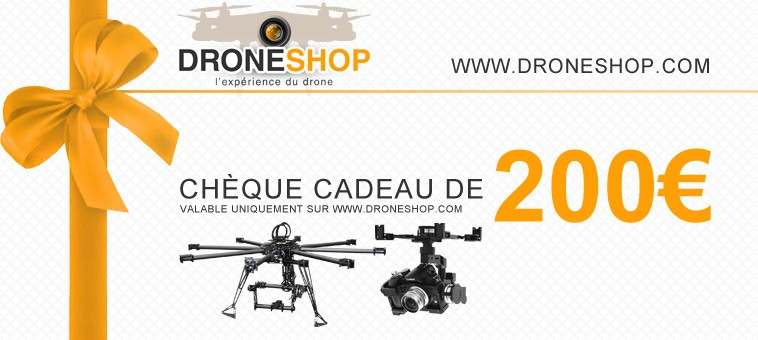 ch que cadeau 200 euros gift 200ds droneshop. Black Bedroom Furniture Sets. Home Design Ideas