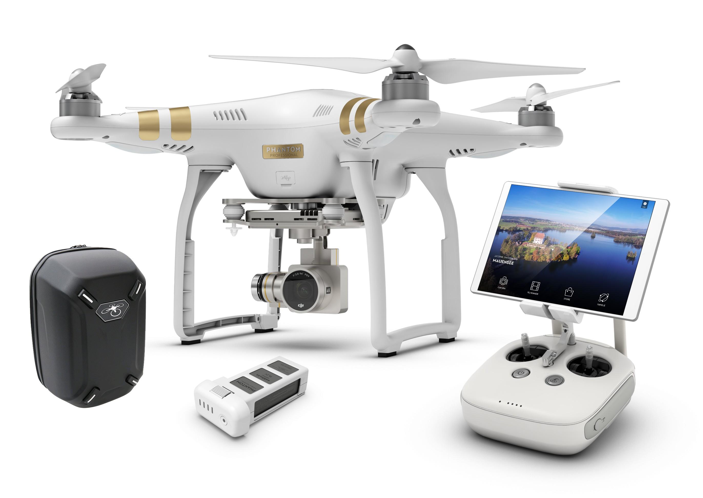 phantom 3 professional pack aventure bdl ph3pbatsadph droneshop. Black Bedroom Furniture Sets. Home Design Ideas
