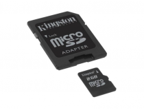 Micro carte SD 2 GB Kingston avec adaptateur
