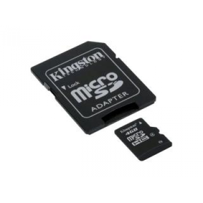 MicroSDHC 4GB Kingston Class4 - Sous Blister