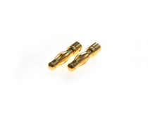 Connecteur : prise 4.0mm Male plaque or (10pcs)