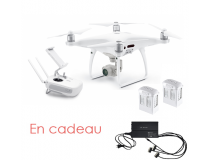DJI PHANTOM 4 PRO avec 2 batteries hautes capacitees supplementaires  - BDL-PH4PRO-2BATT