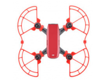Protections d helices avec patins atterrissage rouges DJI Spark