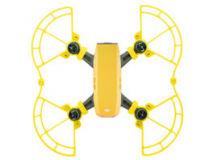 Protections d helices avec patins atterrissage jaunes DJI Spark
