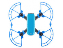 Protections d helices avec patins atterrissage bleu DJI Spark