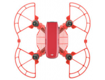 Protections helices et doigts avec patins atterrissage rouges DJI Spark