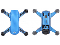 Stickers Spark DJI bleu carbone