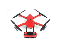 Stickers Carbone  Drone / Radio / Batterie  pour MAVIC PRO Rouge