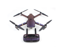 Stickers Carbone  Drone / Radio / Batterie  pour MAVIC PRO Purple - Bleu