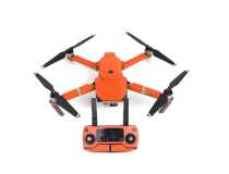 Stickers Carbone  Drone / Radio / Batterie  pour MAVIC PRO Orange
