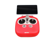 Protection Radio Commande Silicone pour DJI Phantom 4PRO+ Rouge
