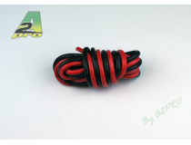 Fil silicone AWG14 - 2,12mm² rouge+noir A2PRO