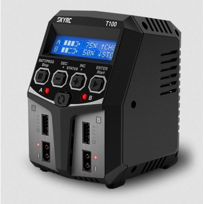 T100 Duo AC Chargeur (LiPo 2-4s 5A 2x50w)