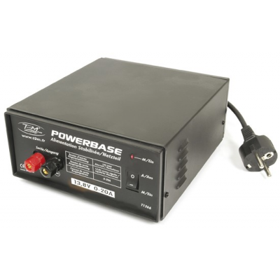 Alimentation stabilisee PowerBase 13.8V 0-20A - T1266 - T2M