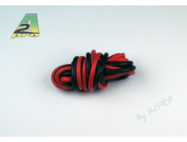 Fil silicone AWG12 - 3,58mm² rouge+noir A2PRO