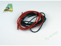 Fil silicone AWG20 - 0,5mm² rouge+noir A2PRO