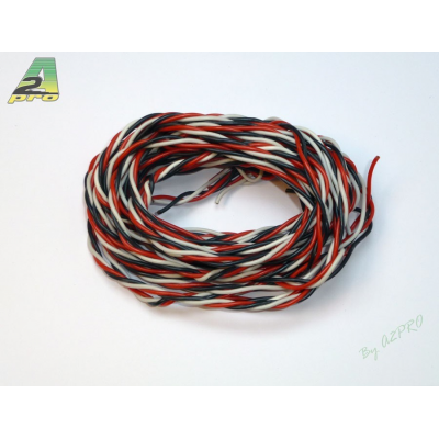 Cable Futaba silicone torsade AWG20 - 0,50mm² (5m) A2PRO