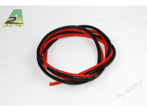 Fil silicone AWG8-6.03² Rouge + Noir (2x1m) A2PRO
