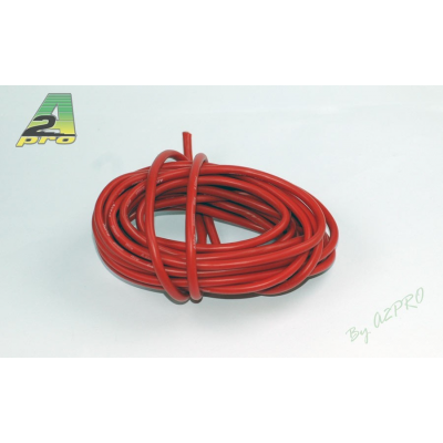 Fil silicone AWG8-6.03² Rouge (5m) A2PRO