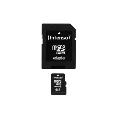 MicroSDHC 4GB Intenso + Adaptateur CL10 - Blister