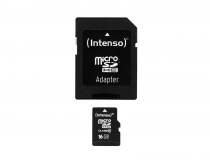 MicroSDHC 16GB Intenso + Adaptateur CL10 - Blister