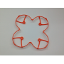 H107-A22 - Hubsan Camera X4C (H107C)  Protection Helices ORANGE