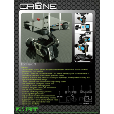 CRANE H3 (BL gimbal for GoPro Hero3)