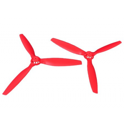 Helice TriPale  (1 paire : normal / reverse) Rouge - Blade 350QX - 350QX01-R