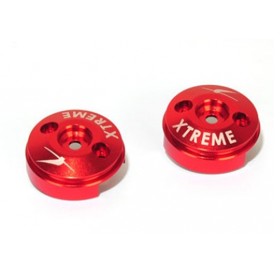 Aluminium Covers for Carbon Blade (Red, 2 pcs) -B350QX