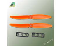 Helice Gemfan Slow Fly orange – 5 x 4 CW (2 pcs)
