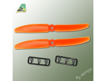 Helice Gemfan Slow Fly propulsive orange – 5 x 4 CCW (2 pcs)