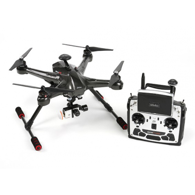SCOUT X4 Carbon FPV with DEVO F12E (m1), gimbal, Ilook+ & G. Station - WALSCOUTX4BK-RTFX1