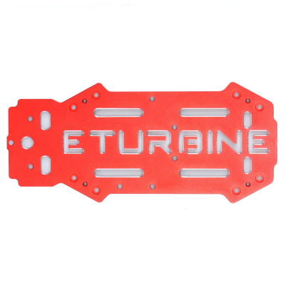 Plaque de chassis superieure optionnelle aluminium rouge TB250 eturbine - ETB-AM1
