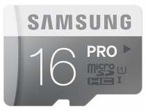MicroSDHC 16Go Samsung CL10 PRO w/o Adaptateur UHS-1 - Sous blister
